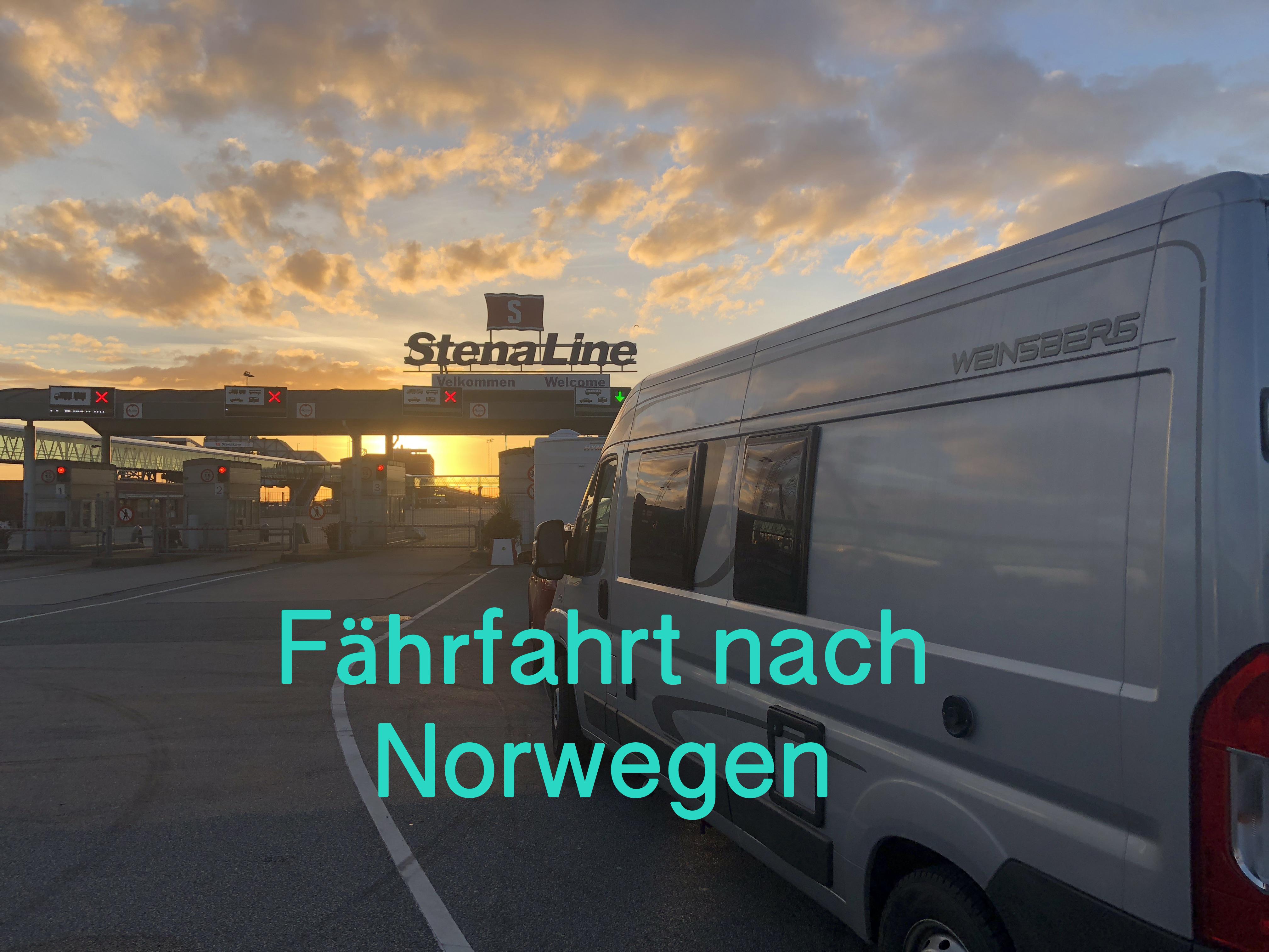 Fährfahrt nach Norwegen