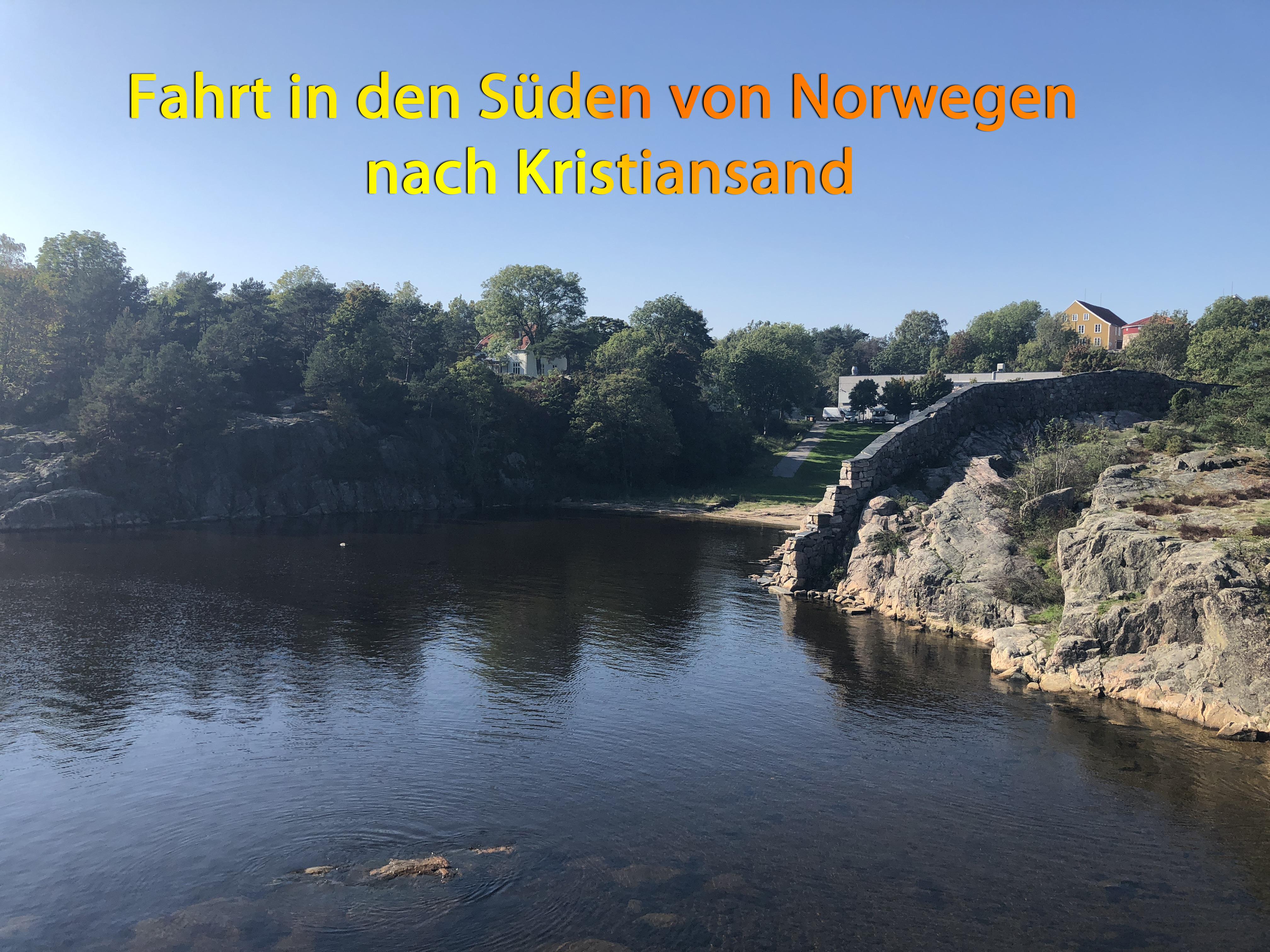 Fahrt in den Süden von Norwegen nach Kristiansand